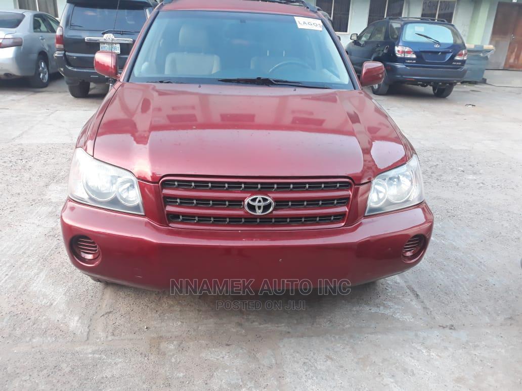 Archive: Toyota Highlander 2001 Red
