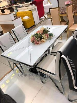 Dining Table Glass Top With Good Quality   Furniture for sale in Lagos State, Ojo