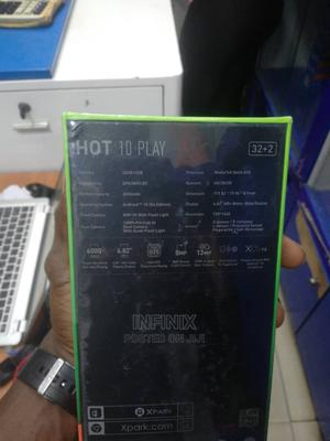 New Infinix Hot 10 Play 32 GB Black | Mobile Phones for sale in Lagos State, Ikeja