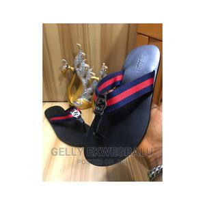 Blue and Red Gucci Leather Slippers | Shoes for sale in Lagos State, Apapa