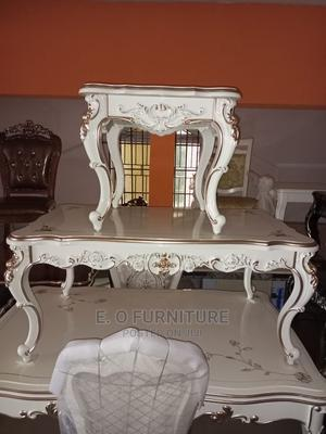 Beautiful Center Table With Two Side Stools Foreign   Furniture for sale in Lagos State, Tarkwa Bay Island