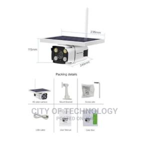Solar Power Wifi Camera 1080p Wireless Security Ip Camera | Security & Surveillance for sale in Lagos State, Ikeja