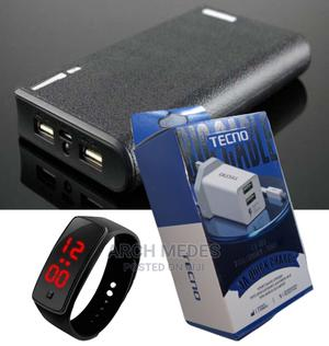Power Bank 40,000mah + Android Fast Charger + Digital Watch | Accessories for Mobile Phones & Tablets for sale in Lagos State, Alimosho