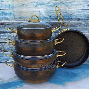 OMS 9 Pcs Granite Nonstiick Casserole/Cookware Set | Kitchen & Dining for sale in Delta State, Warri