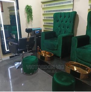 Pedicure Bowl With Gold Color   Salon Equipment for sale in Lagos State, Lagos Island (Eko)