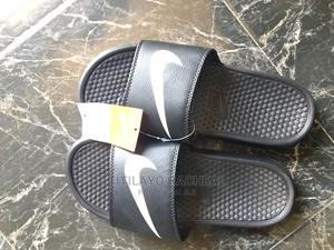Nike Original Benassi Swosh Slides - Black   Shoes for sale in Lagos State, Ikorodu