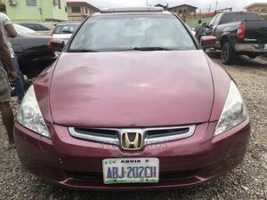 Honda Accord 2005 Sedan EX Automatic Burgandy | Cars for sale in Lagos State, Ogba