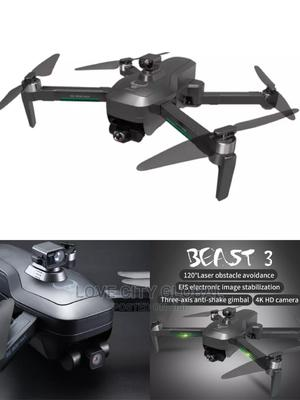 Beast 3+ SG906 Max 5G GPS 4K Video Camera Drone 2 Batteries | Photo & Video Cameras for sale in Lagos State, Amuwo-Odofin