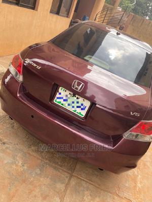 Honda Accord 2009 Sedan EX-L V6 Automatic Burgandy | Cars for sale in Lagos State, Ogba