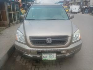 Honda Pilot 2004 EX-L 4x4 (3.5L 6cyl 5A) Gold | Cars for sale in Lagos State, Surulere