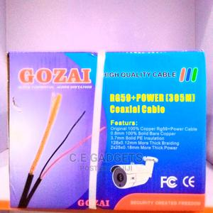 Gozia Rg59 + Power (305M) Coaxial Cable | Accessories & Supplies for Electronics for sale in Lagos State, Ojo