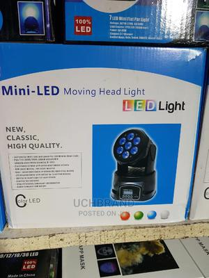 LED 10watts by 7 Bulbs Mini Moving Head Stage Light | Stage Lighting & Effects for sale in Lagos State, Ojo