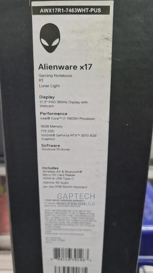 New Laptop Dell Alienware X17 R1 16GB Intel Core I7 SSD 1T   Laptops & Computers for sale in Lagos State, Ikeja