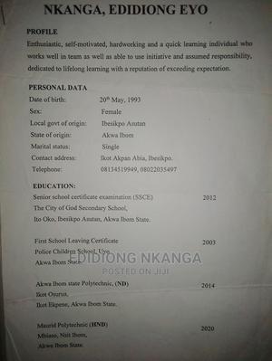 Housekeeping Cleaning CV | Housekeeping & Cleaning CVs for sale in Abuja (FCT) State, Dei-Dei