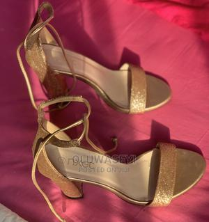 GOLD FEMALE High Heels | Shoes for sale in Abuja (FCT) State, Gudu