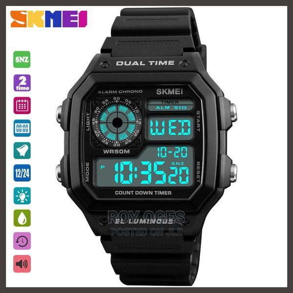 Men's Digital Waterproof Multifunctional Wristwatch