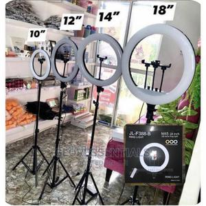 """18""""Rechargeable Ring Light With Battery and Charger 