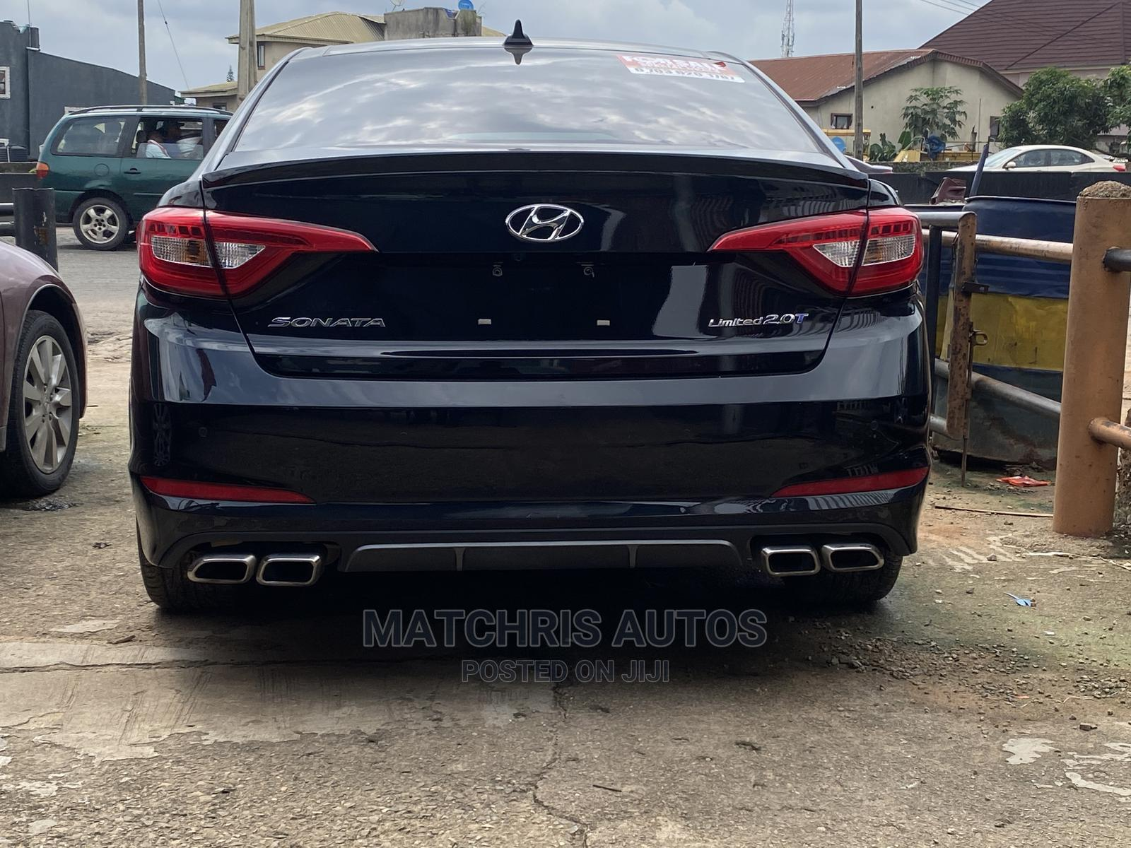Hyundai Sonata 2017 Black | Cars for sale in Ikeja, Lagos State, Nigeria