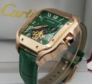 Cartier Genuine Leather Wrist Watch High Quality Affordable | Watches for sale in Lagos State, Lagos Island (Eko)