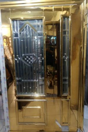 4ft Gold Glass Front Door   Doors for sale in Lagos State, Orile