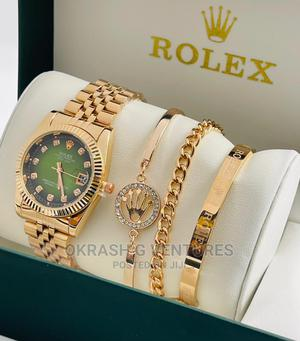Rolex Rose Gold Set Chain Watch for Women's   Watches for sale in Lagos State, Lagos Island (Eko)