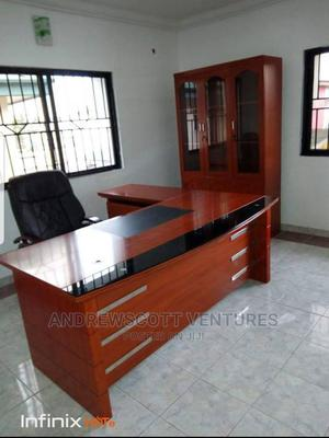 Complete Set of Office Table and Chair and Three Doors Shelf   Furniture for sale in Lagos State, Ojo