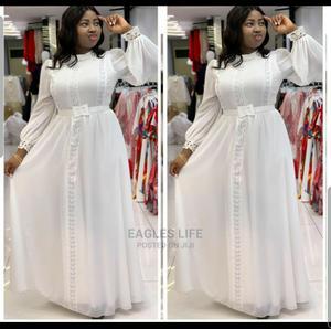 New Quality Female Lady Turkey White Long Gown | Clothing for sale in Lagos State, Lagos Island (Eko)