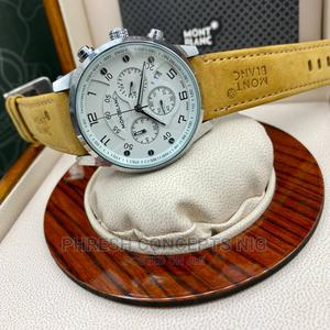 Montblanc Chronograph Leather Watch   Watches for sale in Lagos State, Ojo