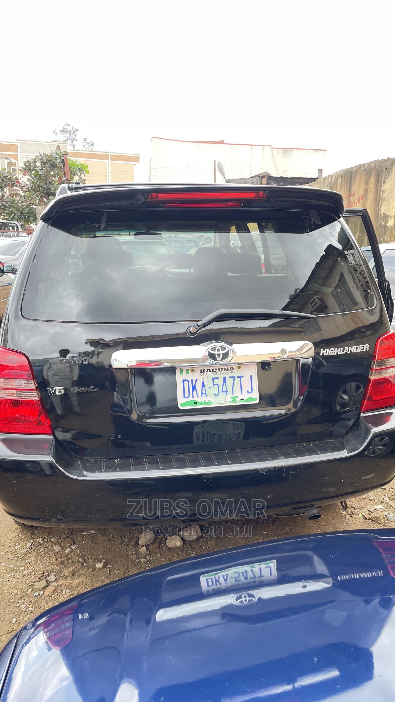 Toyota Highlander 2003 V6 FWD Black   Cars for sale in Kaduna / Kaduna State, Kaduna State, Nigeria