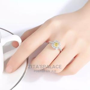 Pure Sterling Engagement Ring Yellow Zirconia   Wedding Wear & Accessories for sale in Lagos State, Alimosho