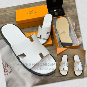 Hermes Ostrich Leather Slide | Shoes for sale in Lagos State, Ojo