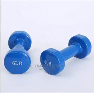 Brand New 6kg Aerobic Coated Dumbbell | Sports Equipment for sale in Lagos State, Surulere