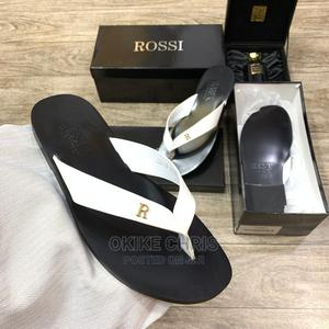 This Is Your White ROSSI ITALIAN Palm Slippers. | Shoes for sale in Lagos State, Lagos Island (Eko)