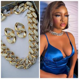 Cuban Necklace and Earrings   Jewelry for sale in Lagos State, Ikeja