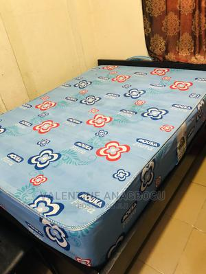 41/2 X 6 Bed Frame 14 Inches Mouka Flora Mattress | Furniture for sale in Lagos State, Yaba