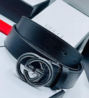 High Quality GUCCI Black Leather Belts for Men's | Clothing Accessories for sale in Abuja (FCT) State, Asokoro