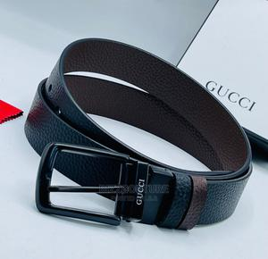 High Quality GUCCI Reversible Black Leather Belts for Men's | Clothing Accessories for sale in Abuja (FCT) State, Asokoro
