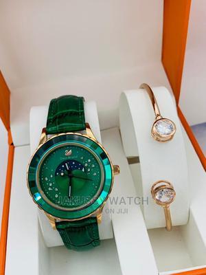 Swarovski Genuine Leather Wrist Watch High Quality Warranty | Watches for sale in Lagos State, Lagos Island (Eko)