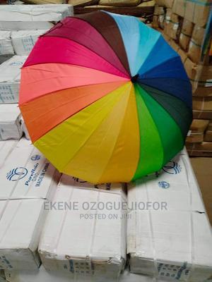 Big Rainbow Automatic Umbrellas | Clothing Accessories for sale in Lagos State, Lagos Island (Eko)