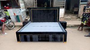 Gold Line Padded Upholstery Bed Frame   Furniture for sale in Lagos State, Ikeja