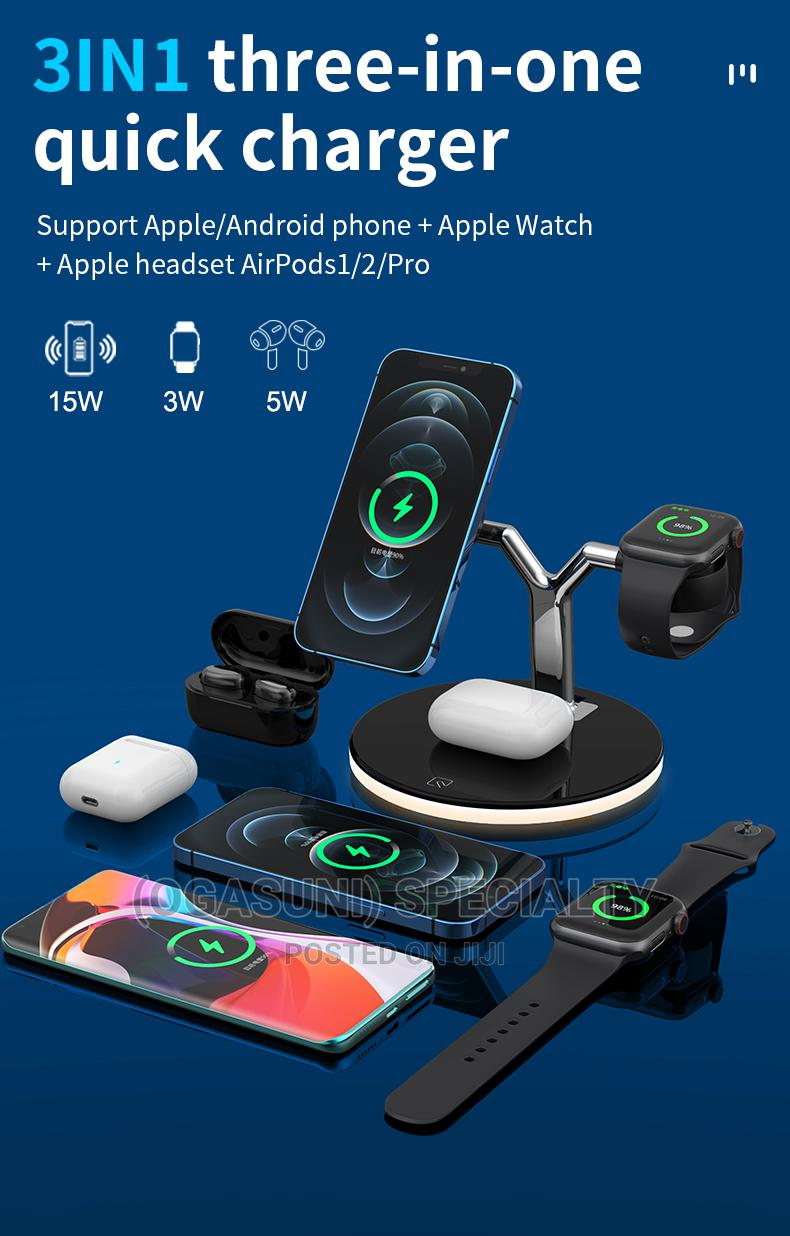 Magsafe Three-In-One Magnetic Wireless Charger 15W   Accessories for Mobile Phones & Tablets for sale in Aba North, Abia State, Nigeria