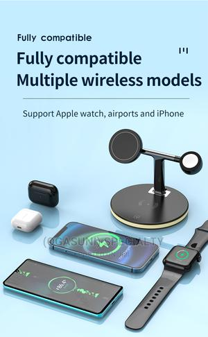 (OGSUNI)Magsafe Three-In-One Magnetic Wireless Charger 15W   Accessories for Mobile Phones & Tablets for sale in Abia State, Aba North