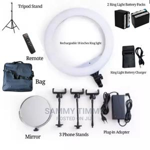 18 Inches Rechargeable Ring Light With Battery Charger   Accessories & Supplies for Electronics for sale in Lagos State, Ikorodu