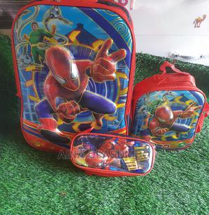 Spiderman School Bag With Lunch Bag and Pencil Bag | Babies & Kids Accessories for sale in Lagos State, Alimosho