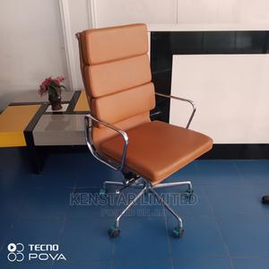 Italian Leather Office Chair- Brown Black | Furniture for sale in Lagos State, Yaba