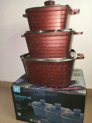 6pcs Granite Coated Diecast Nonstick Cookware Set | Kitchen & Dining for sale in Lagos State, Alimosho