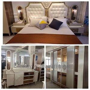 Quality Royal Family Bed With Matrass and Wardrobe | Furniture for sale in Lagos State, Ikorodu