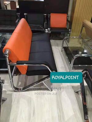 5 Seater Waiting Sofa Orange N Black   Furniture for sale in Abuja (FCT) State, Wuse 2