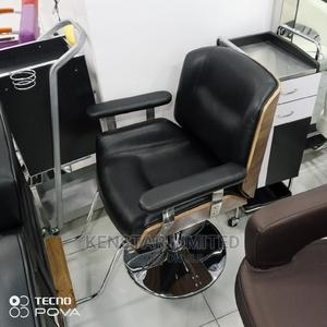 Leather Salon Chairs With Wooden Back | Salon Equipment for sale in Lagos State, Yaba