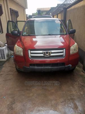 Honda Pilot 2006 EX-L 4x4 (3.5L 6cyl 5A) Red | Cars for sale in Lagos State, Alimosho